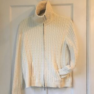 Ralph Lauren Cable Knit Zip Cardigan